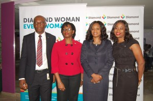 (L-R) Chima Nnadozie, Head, Micro-Small and Medium Scale Enterprises, Diamond Bank Plc; Nneka Okekearu, Deputy Director, Enterprise Development Centre; Aisha Ahmad, Head, Retail Financial Services, Diamond Bank Plc and Adaeze Ume, Segment Head, Micro Enterprises, Diamond Bank Plc at the DiamondWoman Enterprise Seminar organized by Diamond Bank Plc in Ibadan recently