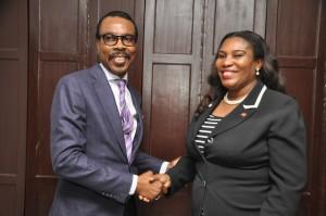 Mr. Bismarck Rewane, Managing Director, Financial Derivatives Company Ltd. ; Mrs. Toyin Sanni, Group CEO, United Capital Plc