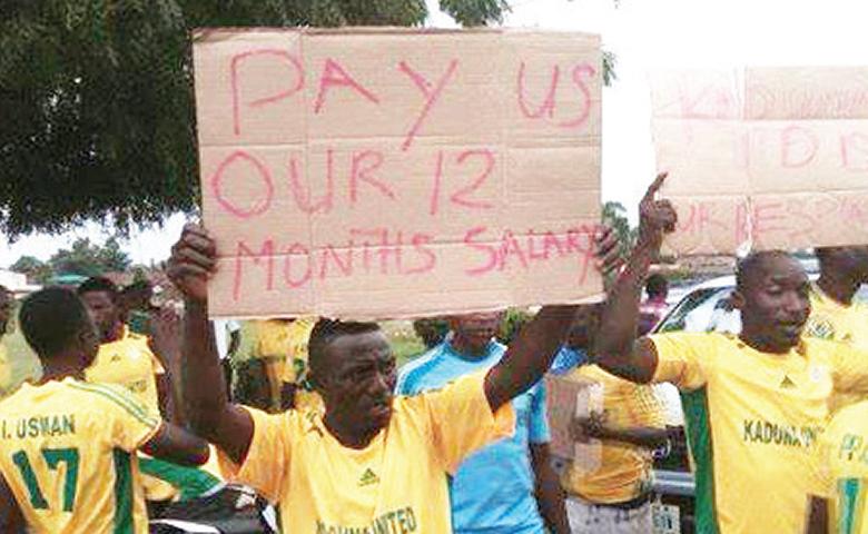 Kaduna Utd playes protesting