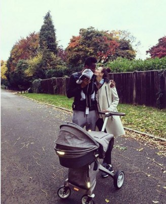 Mikel Obi and twin babies